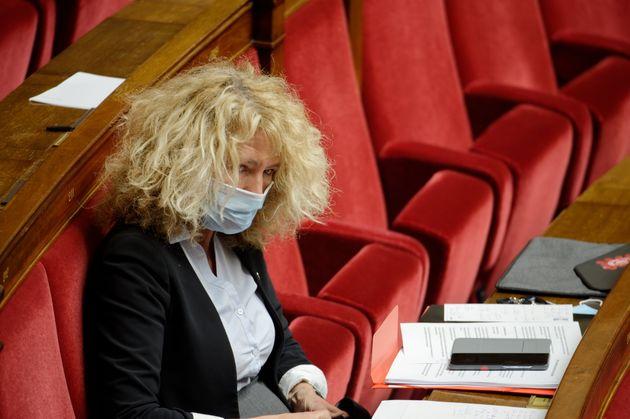 Martine Wonner, photographiée au mois de mai lors d'un débat à l'Assemblée...