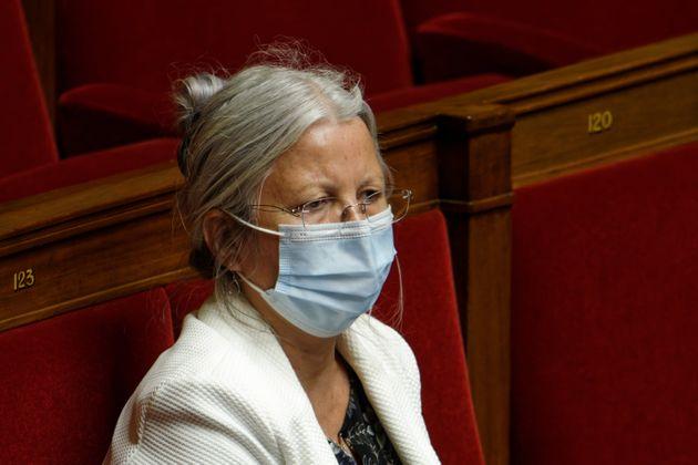 Agnès Thill photographiée le 10 mai à l'Assemblée nationale