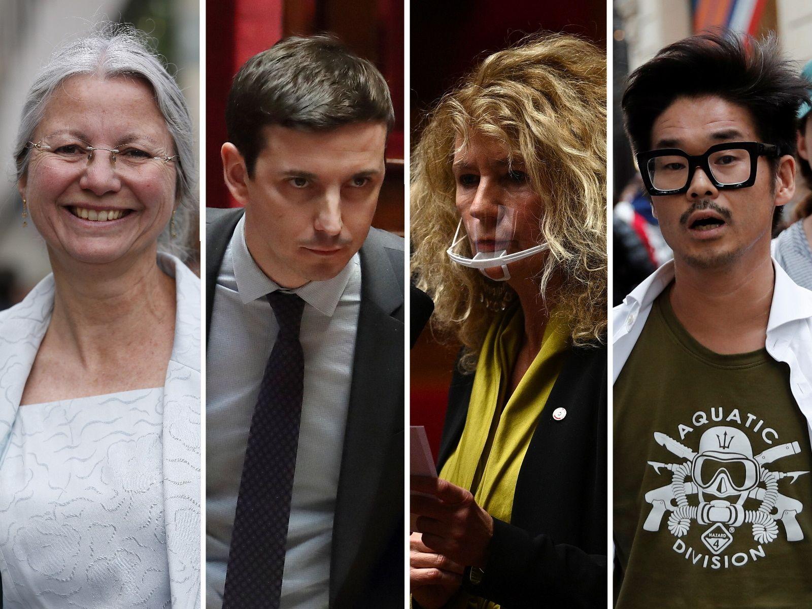 Agnès Thill, Aurélien Taché, Martine Wonner et Joachim Son-Forget (montage AFP-Reuters/Le