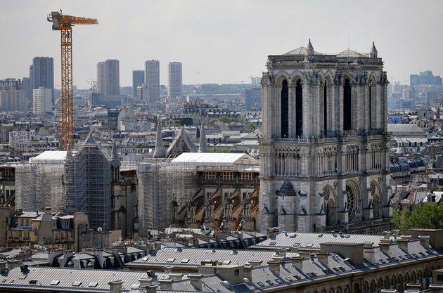 Notre-Dame de Paris va pouvoir débuter ses travaux de restauration(Photo prise en juillet...