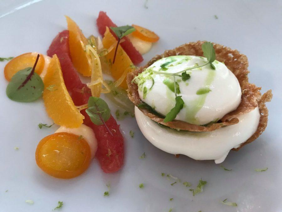 Dessert frais et local au Clos des Oliviers