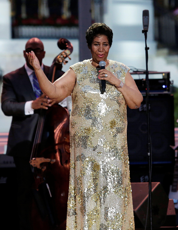 Aretha Franklin, ici lors d'un concert à Washington aux États-Unis, le 29 avril