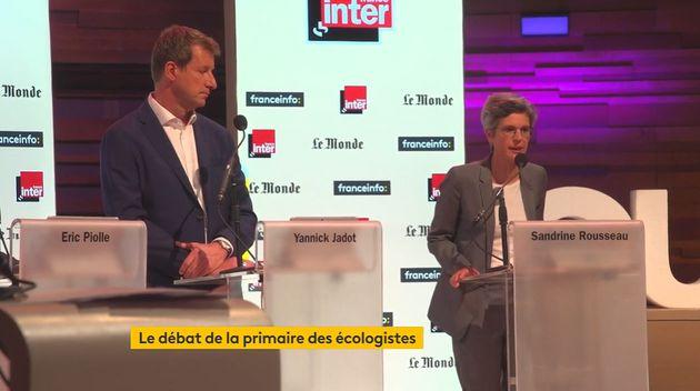 Yannick Jadot et Sandrine Rousseau en débat sur France info