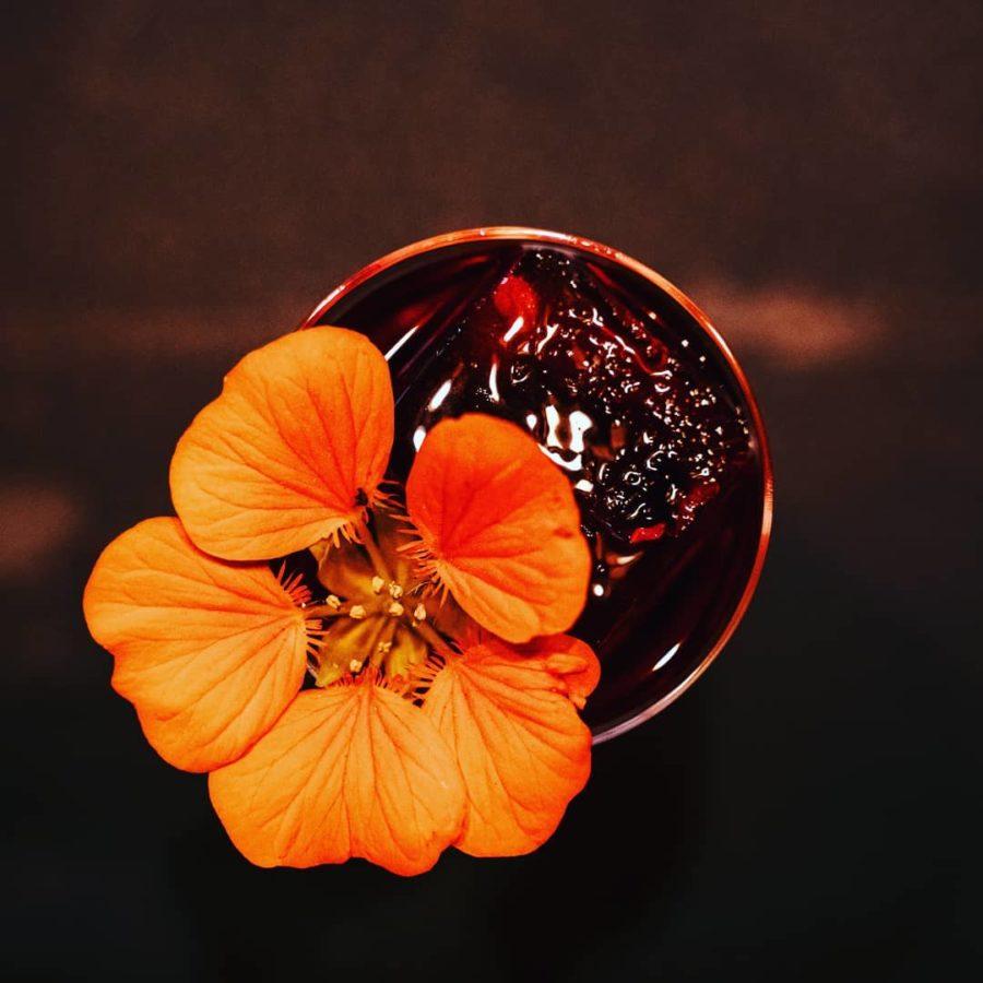 Quatrieme tiers cocktail fleur