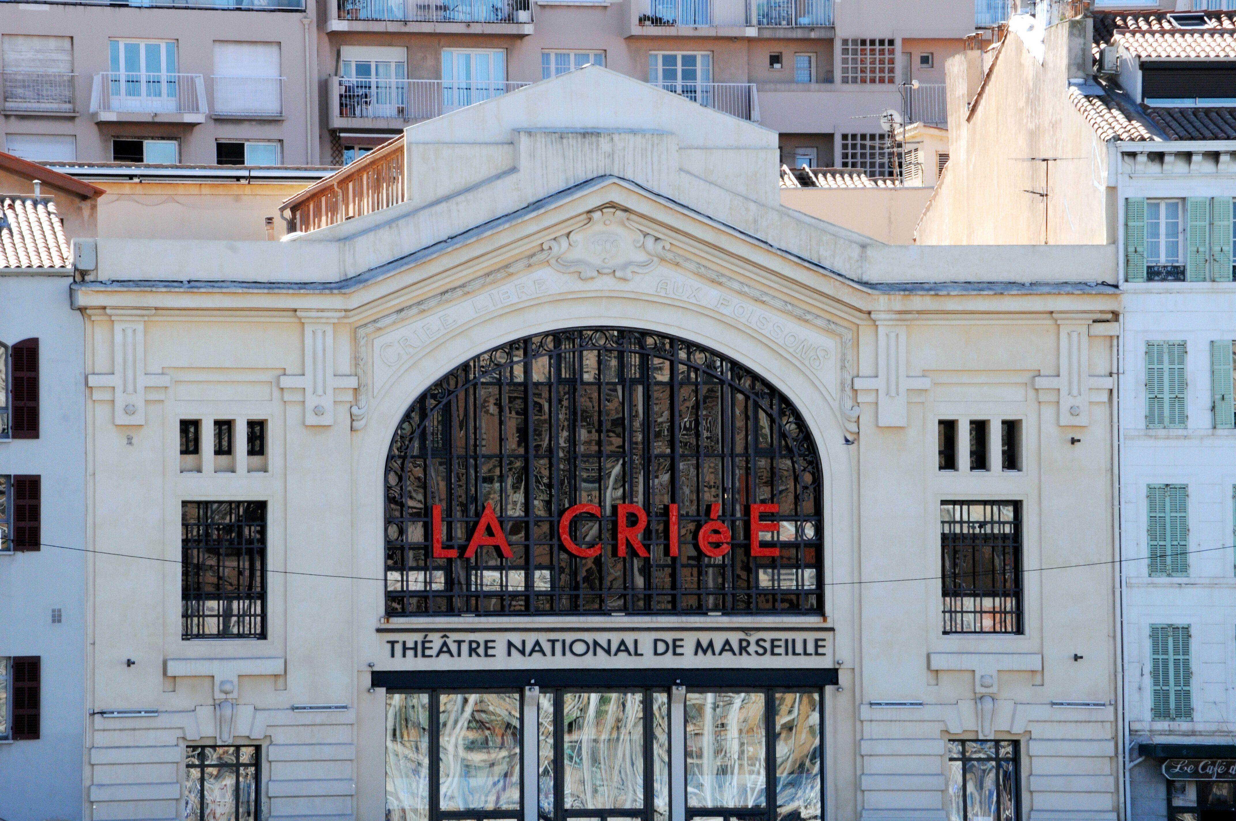 Le théâtre National de la Criée à Marseille, dans les Bouches-du-Rhône, France. (Photo by Jean-Marc CHARLES/Gamma-Rapho...