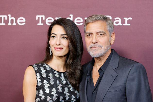 Georges Clooney et Amal Clooney à la première de