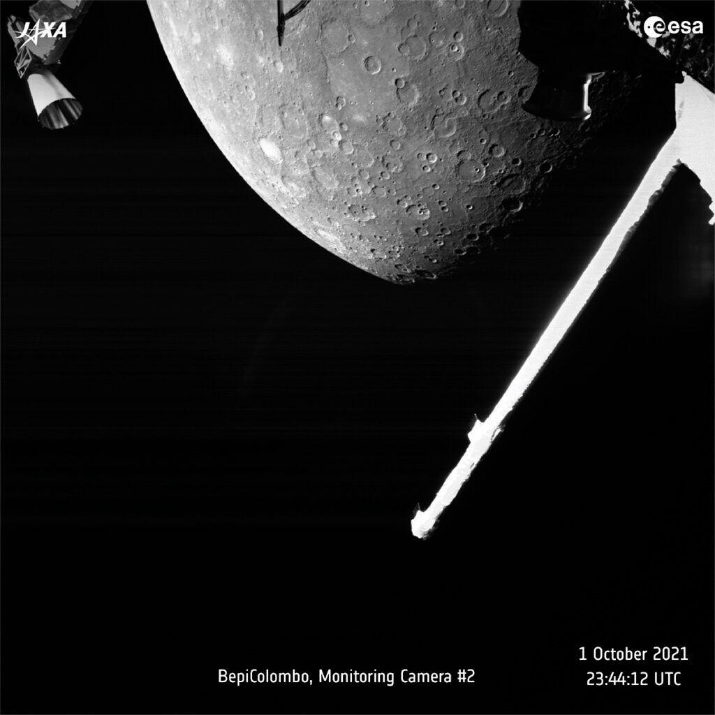 Image la planète Mars prise par le satellite BepiColombo le 1er octobre