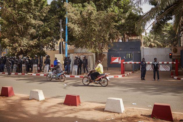 L'ambassade de France au Mali, à Bamako, ici le 10 janvier