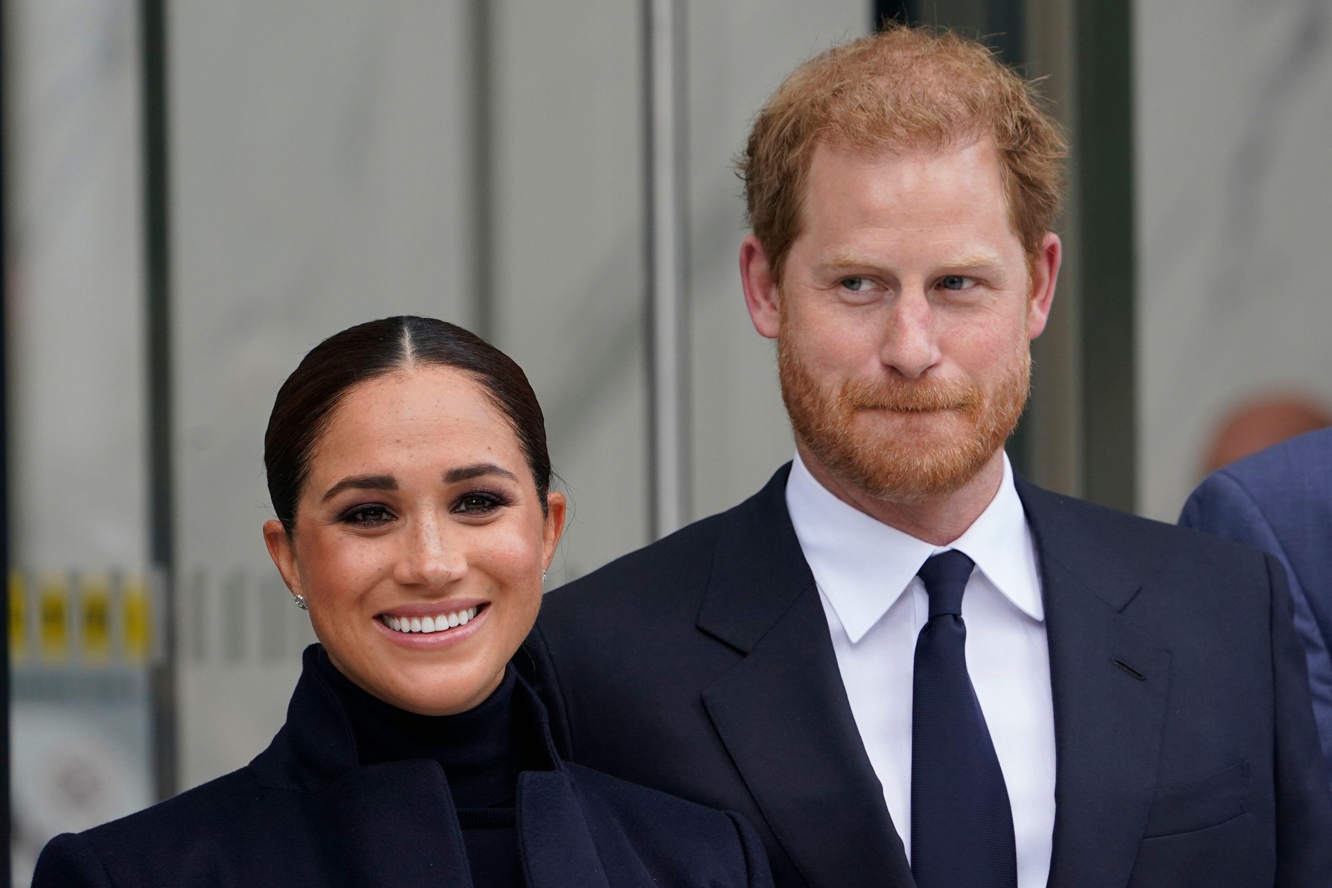 Meghan Markle et le Prince Harry à New York, le 23 septembre
