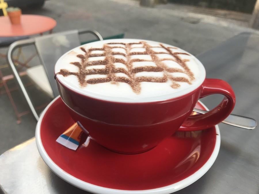coffee art cappucino