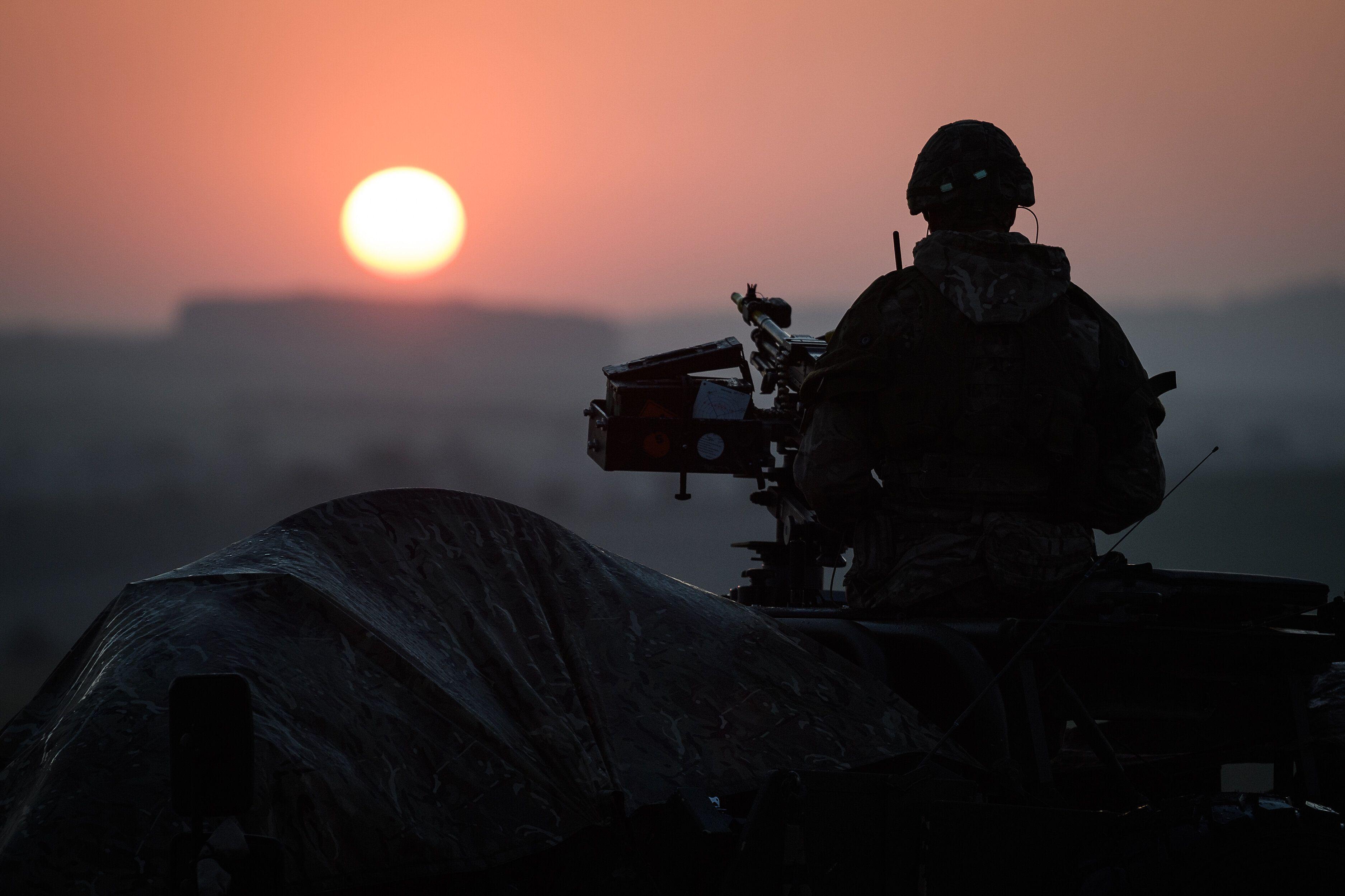 Un soldat au